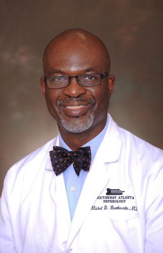 Dr. Michel Brathwaite, nephrologist at Southwest Atlanta Nephrology