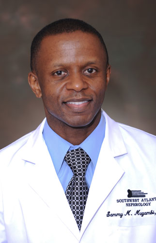 Dr. Sammy Mugambi,, nephrologist at Southwest Atlanta Nephrology
